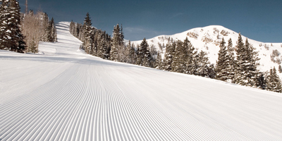 groomed slope